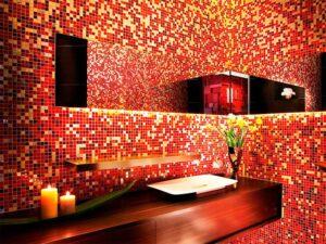Стильный дизайн интерьера с мозаикой