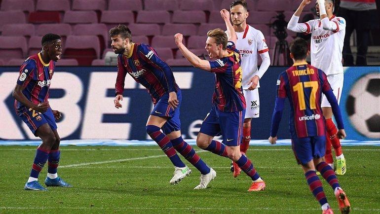Сумасшедшая победа «Барселоны» вКубке Испании. Спаслись на90+4-й минуте, атер Штеген потащил пенальти